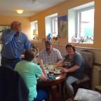 Andrea und Hermann und Manni u Ute beim Frühstück